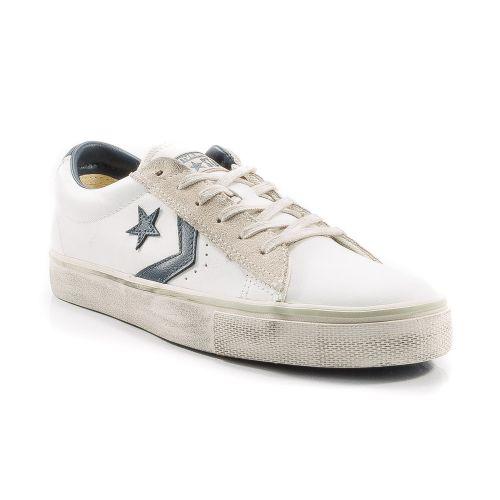 abd40d93948e6 ▷ Sneaker Bassa Donna Converse 148457C-PRO-LEATHER pelle bianco-blu -50%  online