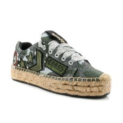 Espadrillas  Replay color Verde Militare  Espadrillas Donna Replay online - prezzo:   34.95 €