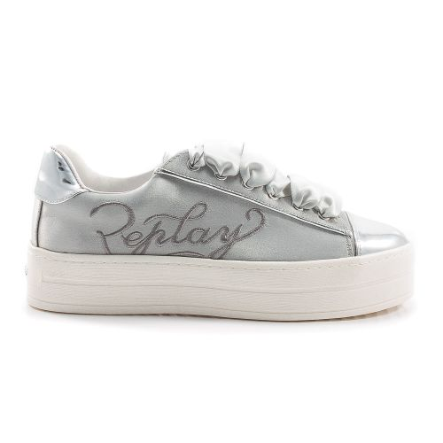meet 5f796 9fc8f ▷ Sneaker Bassa Donna Replay RZ860004S tessuto argento -50 ...