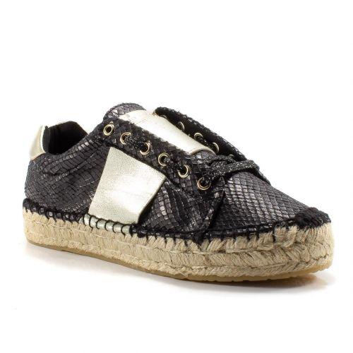 huge discount c2e8e b73a0 ▷ Sneaker Bassa Donna Replay RF220045 laminato nero -40 ...