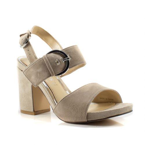 3c2ea79a1fa08a ▷ Sandalo Tacco Donna Cafenoir ILA522 alcantara taupe -30% online | Novità  Calzature
