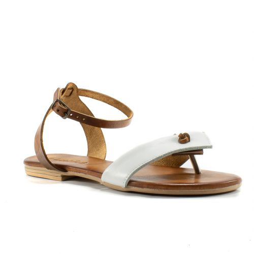 c2e911633ee0db Sandali Latika color Cuoio-Bianco Sandalo Basso Donna Latika online -  prezzo: 42.42 €