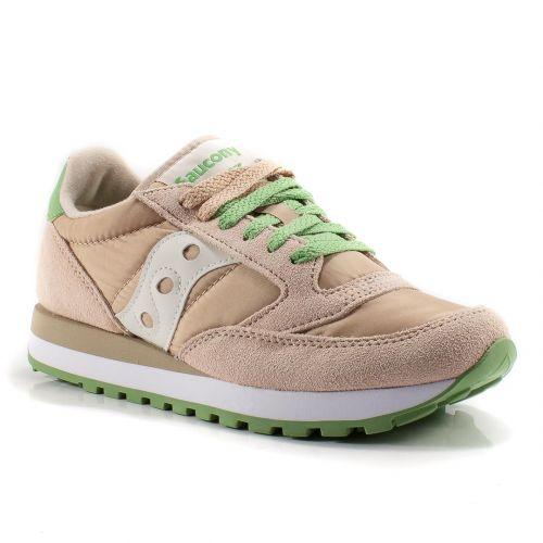 e3fec8a6 ▷ Sneaker Bassa Donna Saucony JAZZ-ORIGINAL-S1044-513 tessuto-camoscio rosa-verde  online   Novità Calzature