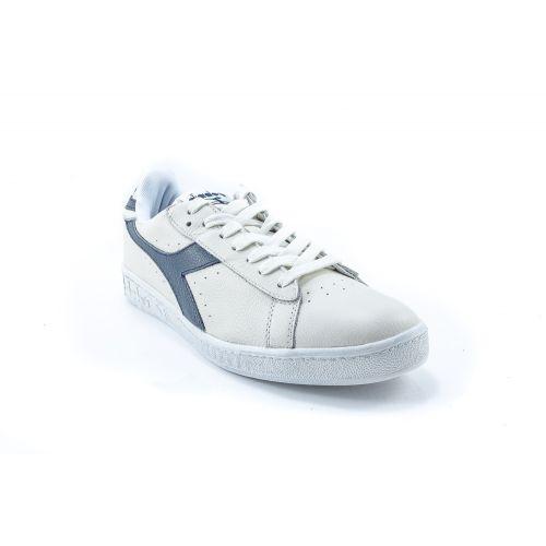 002771d2ef ▷ Sneaker Bassa Donna Diadora GAME-L-LOW-WAXED pelle bianco-blu -25 ...