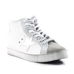 Sneakers alte  Arish color Bianco-Argento  Sneaker Alta Donna Arish online - prezzo:   49.90 €