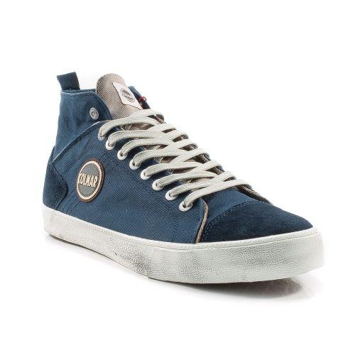 ▷ Sneaker Alta Uomo Colmar DURDEN-COLORS-038 tessuto blu-grigio -50% online   fec14536678