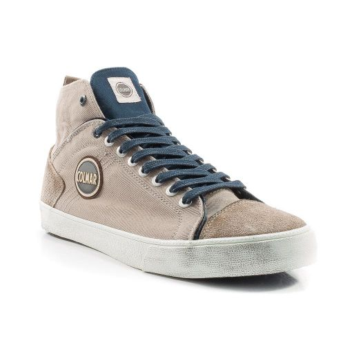 ▷ Sneaker Alta Uomo Colmar DURDEN-COLORS-034 tessuto grigio-blu -50% online   96758b9f164