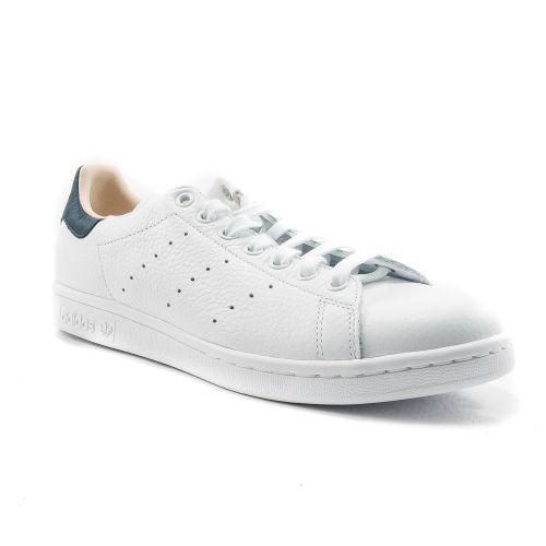 new styles f5509 9fd7e ▷ Sneaker Bassa Uomo Adidas STAN pelle bianco-blu -50% online   Novità  Calzature