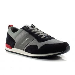 feaf4bcd8ae77 Scarpe online pagamento in contrassegno Tommy Hilfiger color Blu-Grigio  Sneaker Bassa Uomo Tommy Hilfiger
