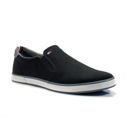 Sneakers  Tommy Hilfiger color Nero  Slip-on Uomo Tommy Hilfiger online - prezzo:   35.94 €