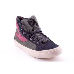 Scarpe di marca scontate Diesel color Verde-Nero Sneaker Alta Uomo Diesel  online - prezzo 899bb6227bc