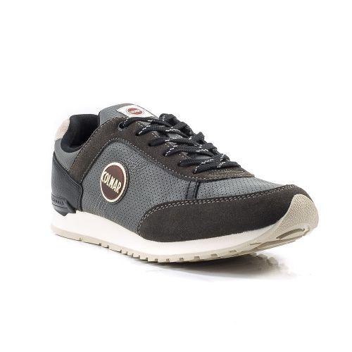 ▷ Sneaker Bassa Uomo Colmar TRAVIS-DRILL-008 pelle grigio -50% online  de3d1c669f5