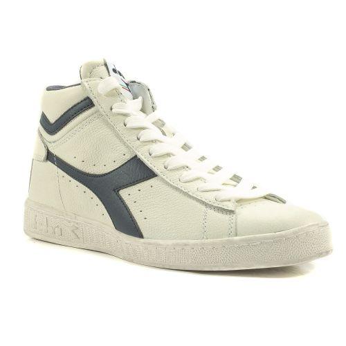 ▷ Sneaker Alta Uomo Diadora GAME-HIGH-WAXED pelle bianco-blu online ... 26b4a928e67