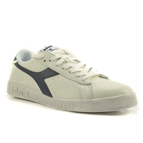 ▷ Sneaker Bassa Uomo Diadora GAME-LOW-WAXED pelle bianco-blu -30% online  65356edf89f