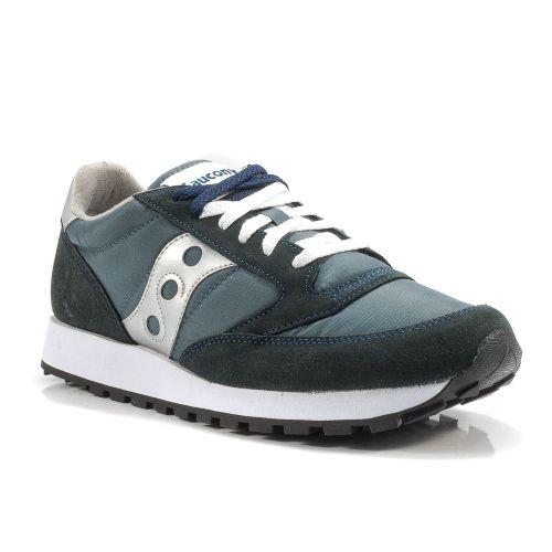 big sale caab6 b2539 ▷ Sneaker Bassa Uomo Saucony JAZZ-ORIGINAL-2044-2 tessuto-camoscio blu-argento  -30% online   Novità Calzature