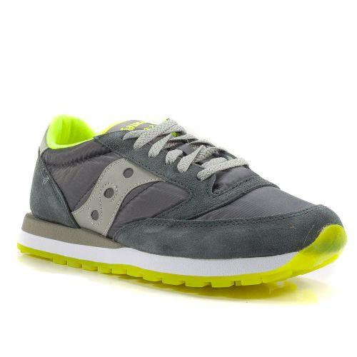 ▷ Sneaker Bassa Uomo Saucony JAZZ-ORIGINAL-2044-257 tessuto-camoscio grigio- giallo -30% online  a4cf127bc24